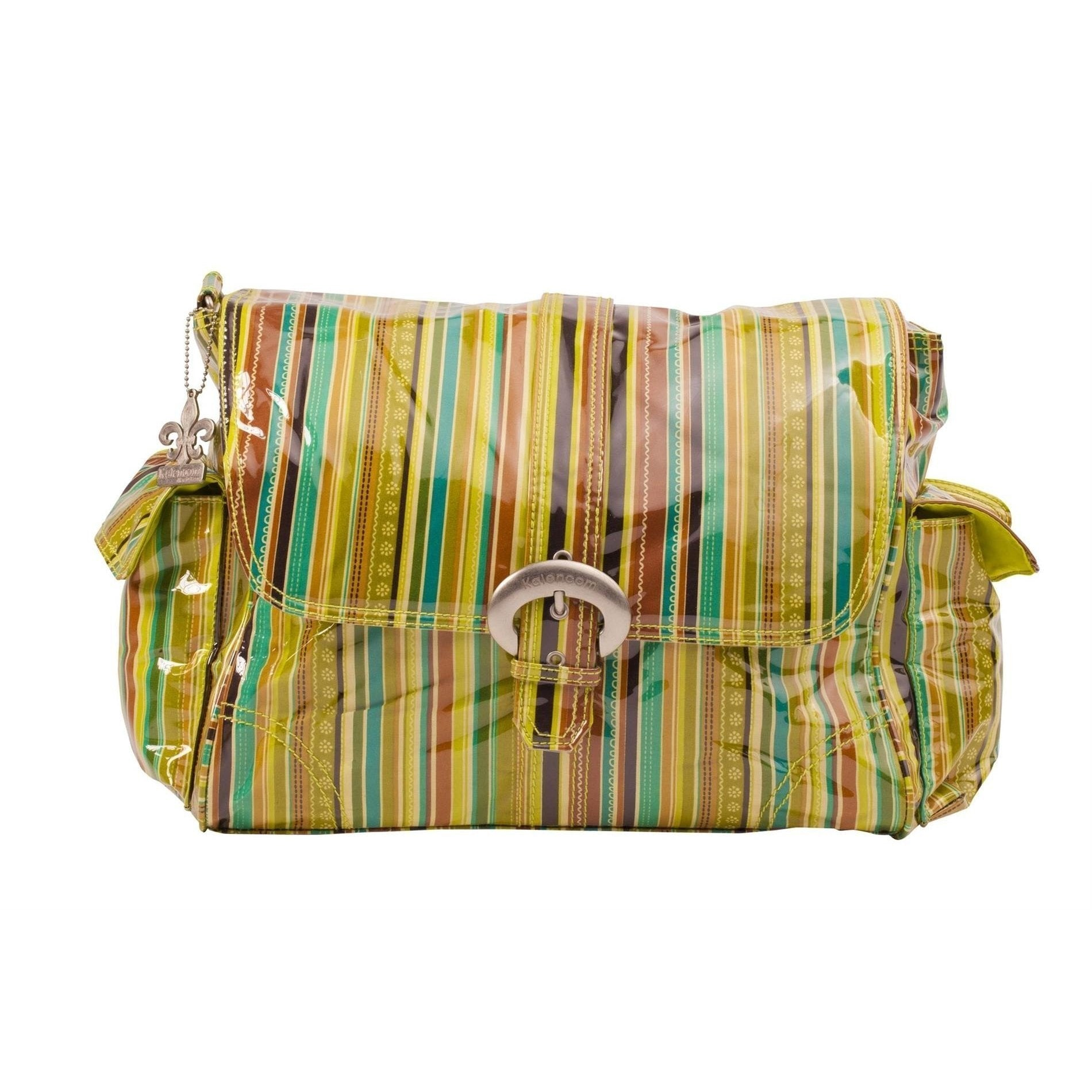 Pretty Stripes - Pistachio Laminated Buckle Diaper Bag | Style 2960 - Kalencom-Diaper Bags-Default-Jack and Jill Boutique