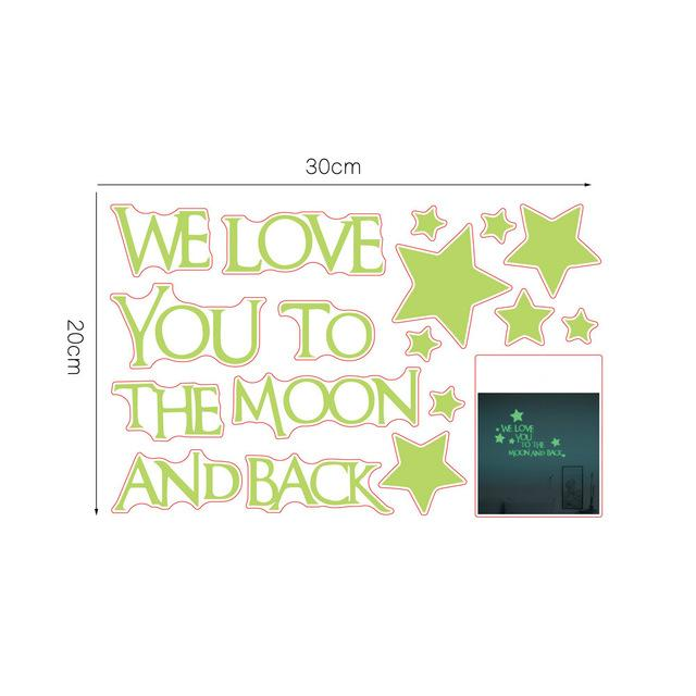 I Love You to the Moon and Back | Wall Decal Glow in the Dark-Decals-Jack and Jill Boutique