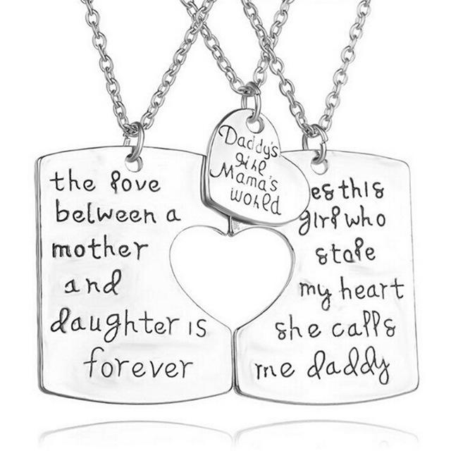 Daughter Pendant | Daddy Mommy and Daughter-Jewelry-Jack and Jill Boutique