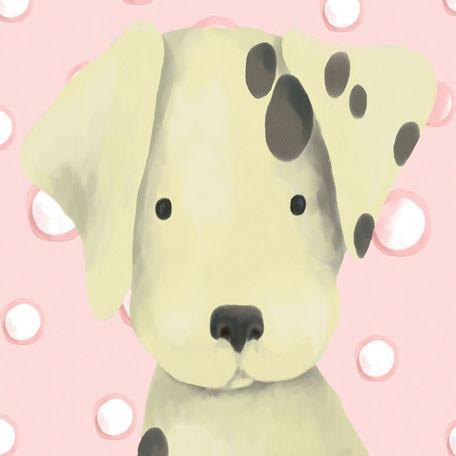 Radley the Dalmatian - Pink | Canvas Wall Art