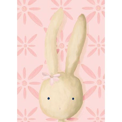 Rae the Bunny - Pink | Canvas Wall Art-Canvas Wall Art-Jack and Jill Boutique