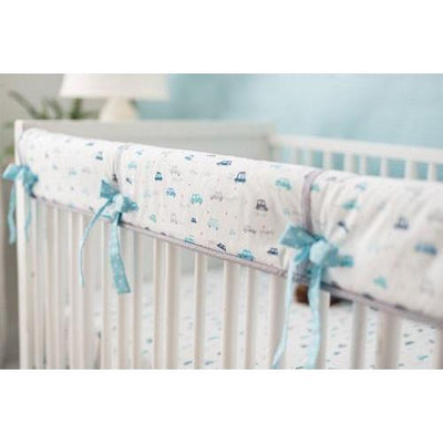 Rail Cover | Blue Transportation On My Way Vroom Baby Bedding Set-Crib Rail Cover-Jack and Jill Boutique