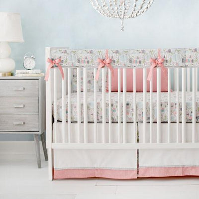 Rail Cover | Coral In the City Baby Bedding Set-Crib Rail Cover-Jack and Jill Boutique