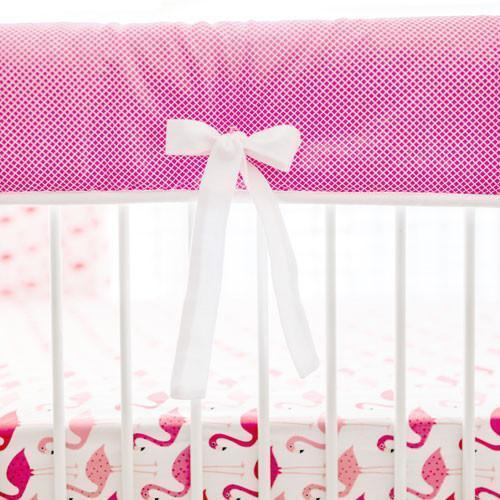 Rail Cover | Pink Urban Flamingo Baby Bedding Set-Crib Rail Cover-Jack and Jill Boutique