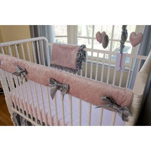 Rail Guard | Charlotte Luxury Baby Bedding Set-Crib Rail Cover-Bebe Chic-Jack and Jill Boutique