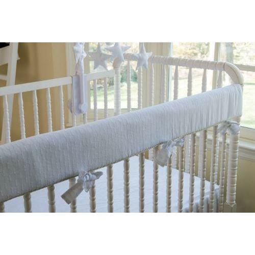 Rail Guard | Stella Luxury Baby Bedding Set-Crib Rail Cover-Bebe Chic-Jack and Jill Boutique
