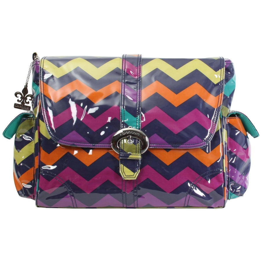Rainbow Zigzag Laminated Buckle Diaper Bag | Style 2960 - Kalencom-Diaper Bags-Default-Jack and Jill Boutique