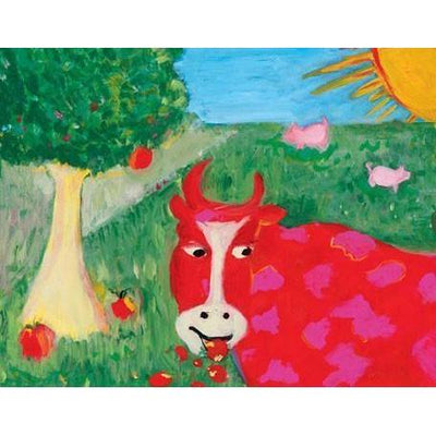 Red Cow | Canvas Wall Art-Canvas Wall Art-Jack and Jill Boutique