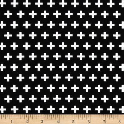 Black and White Swiss Cross Fabric by the Yard-Fabric-Jack and Jill Boutique