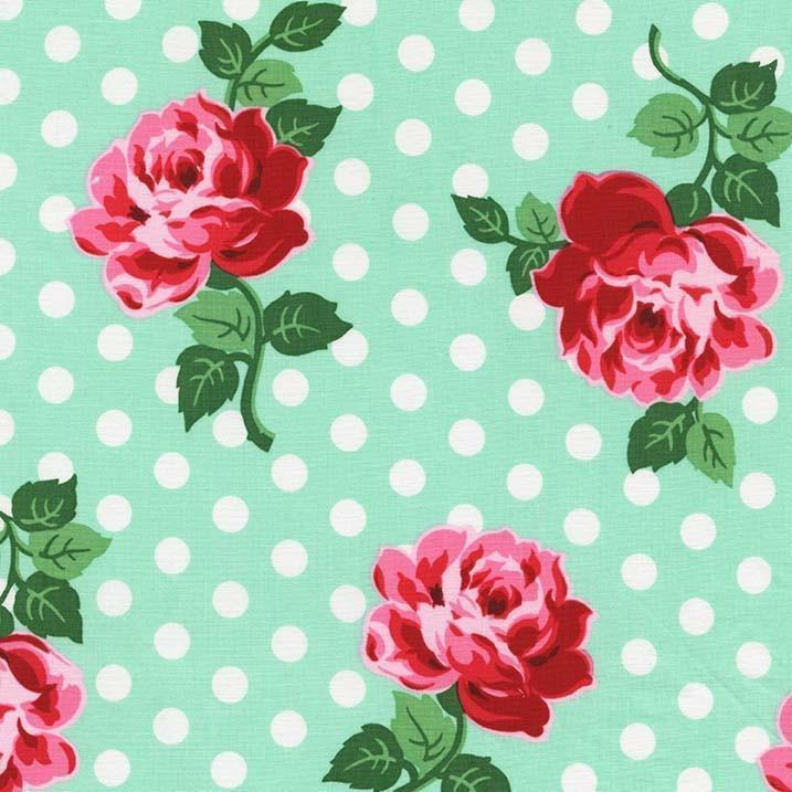 "Vintage FABRIC  100/% COTTON FABRIC 44/"" WIDE FLORAL Green Background BY THE YARD"