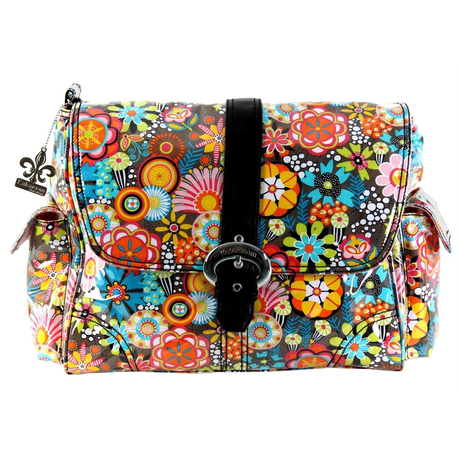 Retro Floral Laminated Buckle Diaper Bag | Style 2960 - Kalencom-Diaper Bags-Jack and Jill Boutique