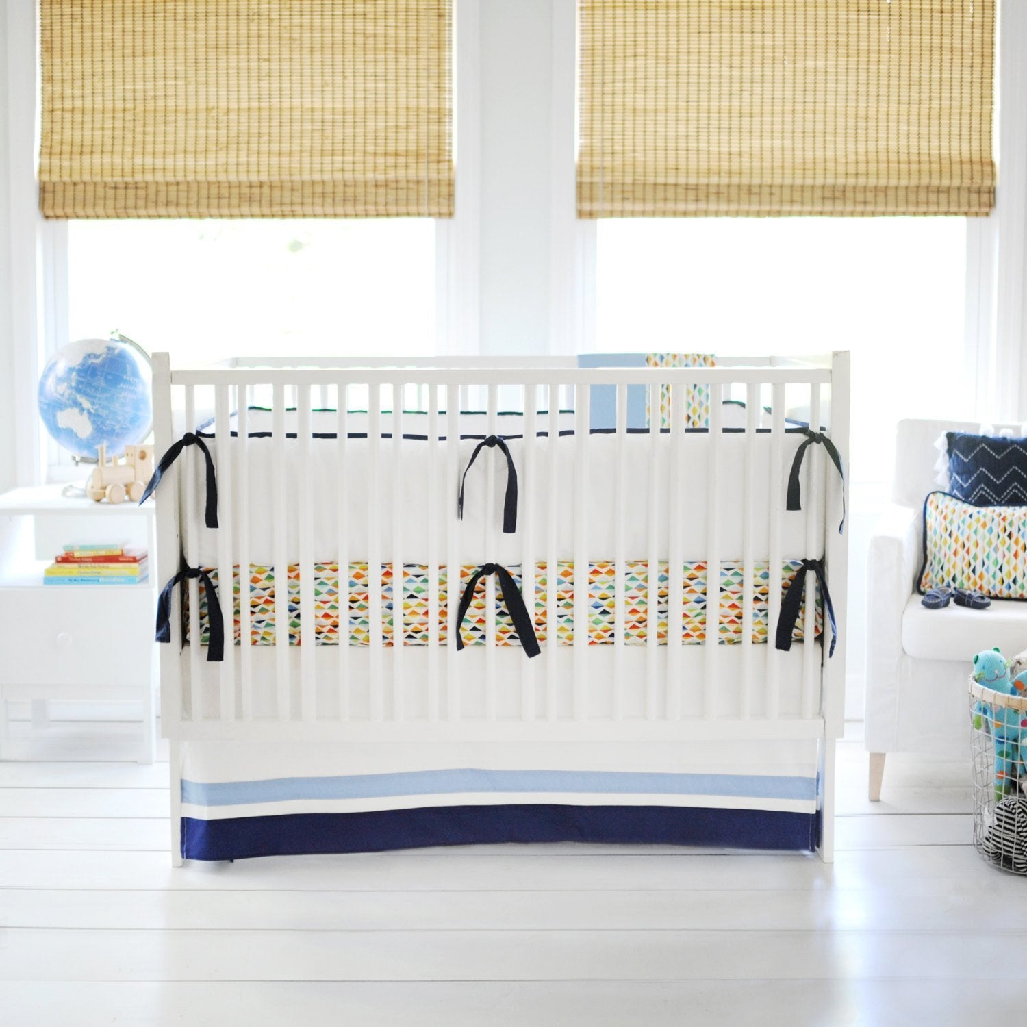 Rhapsody in Blue Baby Bedding Set-Crib Bedding Set-New Arrivals-Jack and Jill Boutique