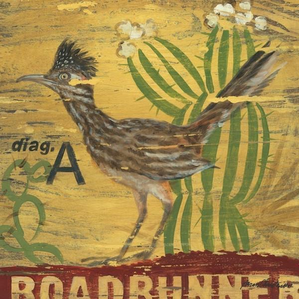 Roadrunner | American Southwest Art Collection | Canvas Art Prints-Canvas Wall Art-Jack and Jill Boutique