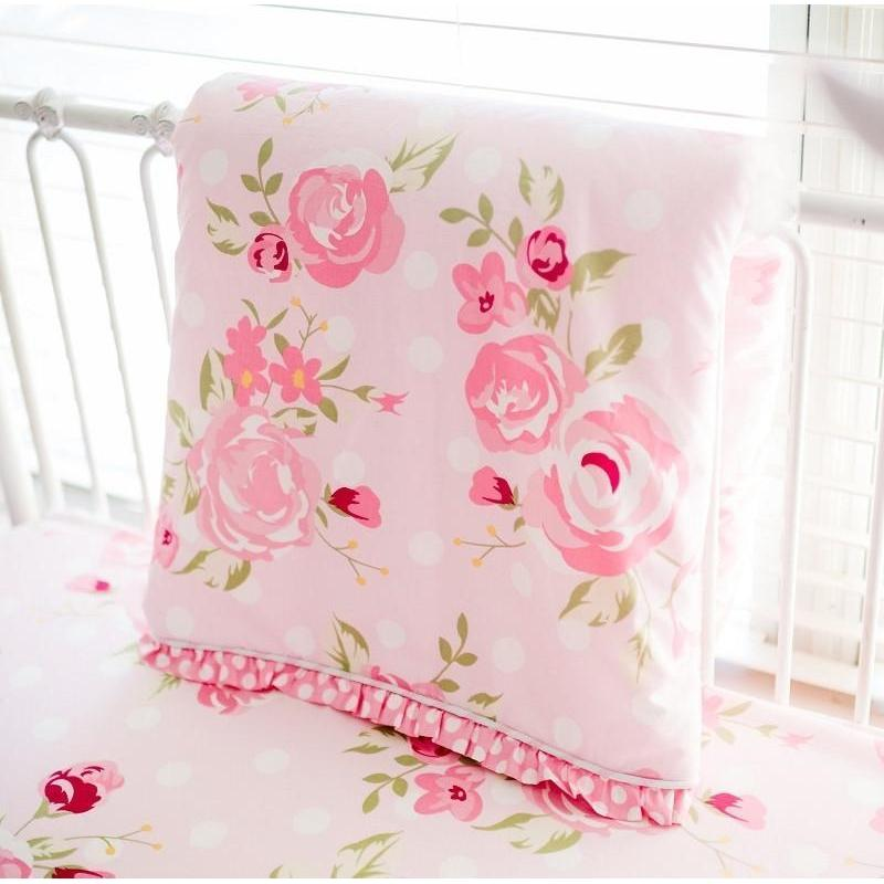 Rosebud Lane Floral Crib Baby Bedding Set