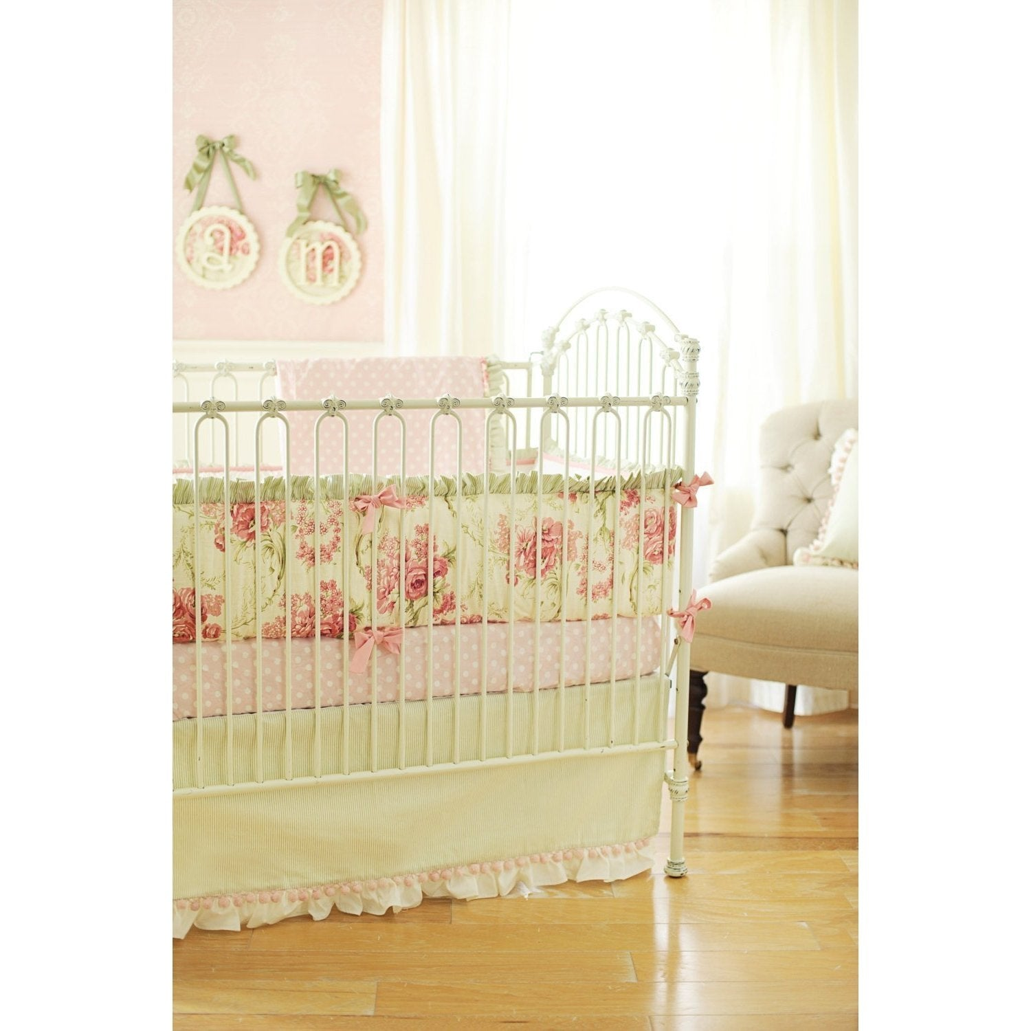 Roses for Bella Baby Bedding Set-Crib Bedding Set-New Arrivals-Jack and Jill Boutique