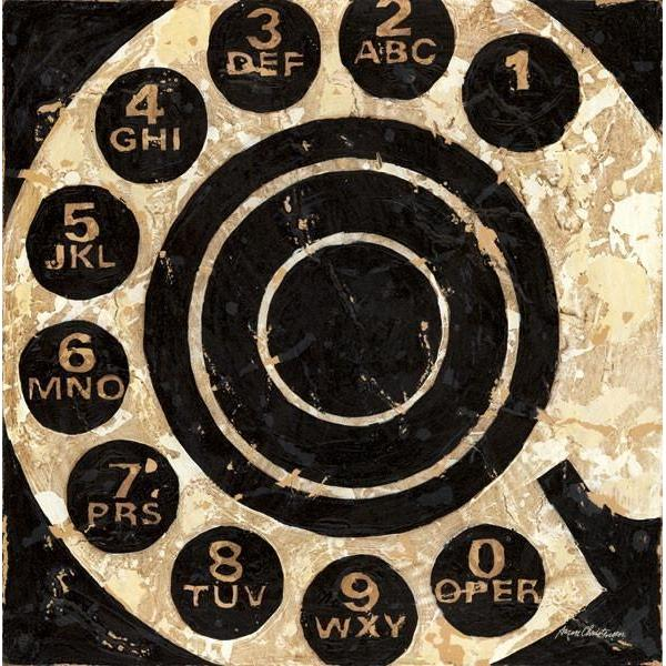 Rotary Telephone Dial | Vintage Art Collection | Canvas Art Prints