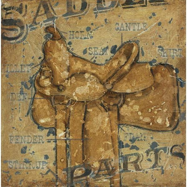 Saddle Parts | Cowboy Western Art Collection | Canvas Art Prints-Canvas Wall Art-Jack and Jill Boutique