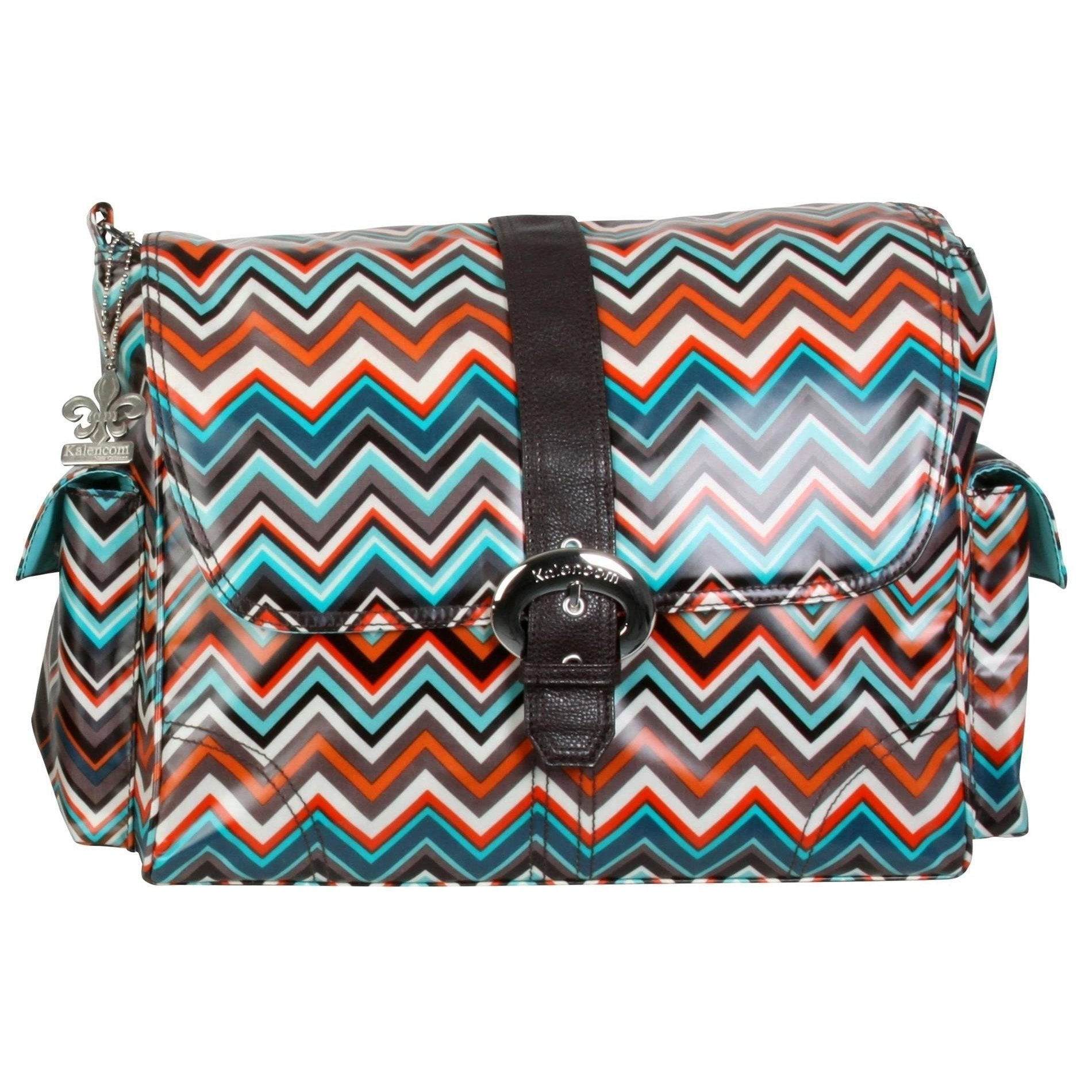 Safari Zigzag Matte Coated Buckle Diaper Bag | Style 2960 - Kalencom-Diaper Bags-Jack and Jill Boutique