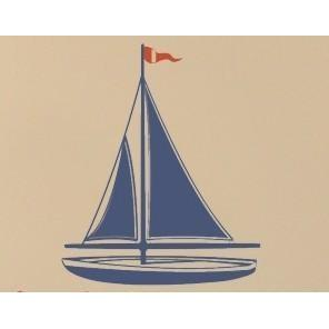 Sailboat Vinyl Wall Decal-Decals-Jack and Jill Boutique