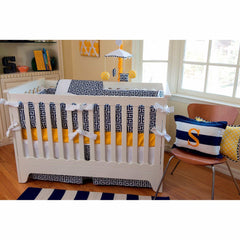 Sam – Sunny Yellow Luxury Baby Bedding Set-Crib Bedding Set-Bebe Chic-Jack and Jill Boutique