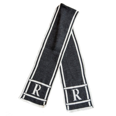 Scroll & Monogram Personalized Knit Scarf-Scarves-Default-Jack and Jill Boutique