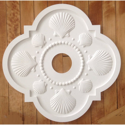Seashell Ceiling Medallions-Medallions-Jack and Jill Boutique