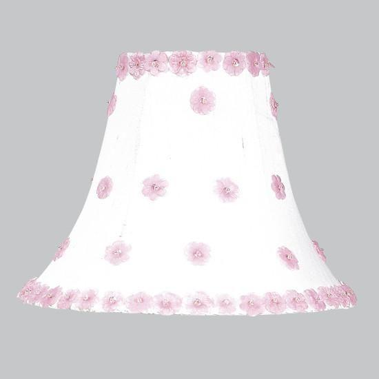 Shade - LG - Petal Flower - White/Pink-Lamp Shades-Default-Jack and Jill Boutique