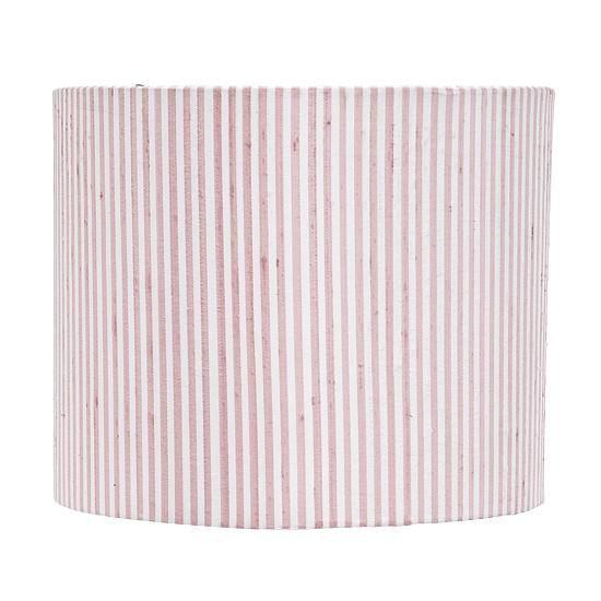 Shade - LG - Round Drum - Pink & White Stripe-Lamp Shades-Default-Jack and Jill Boutique