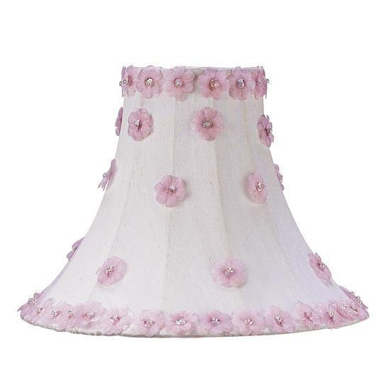 Shade - Med - Petal Flower - White/Pink-Lamp Shades-Default-Jack and Jill Boutique