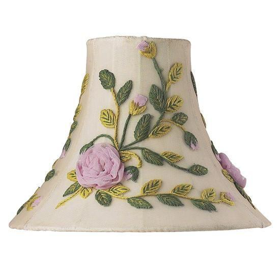 Shade - Med - Rose Net Flower - Multi-Lamp Shades-Default-Jack and Jill Boutique