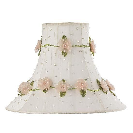 Shade - Med - Roses on Vine - White-Lamp Shades-Default-Jack and Jill Boutique
