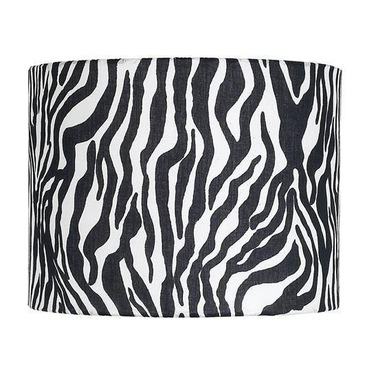 Shade - X-Large - Drum - Zebra-Lamp Shades-Default-Jack and Jill Boutique