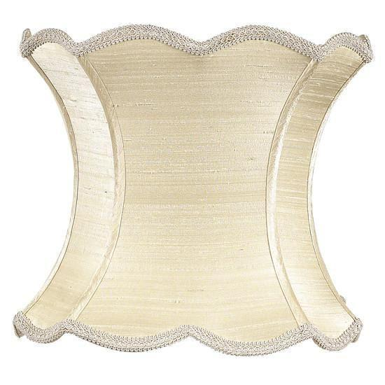 Shade - X-Large - Scallop Hourglass - Ivory-Lamp Shades-Default-Jack and Jill Boutique