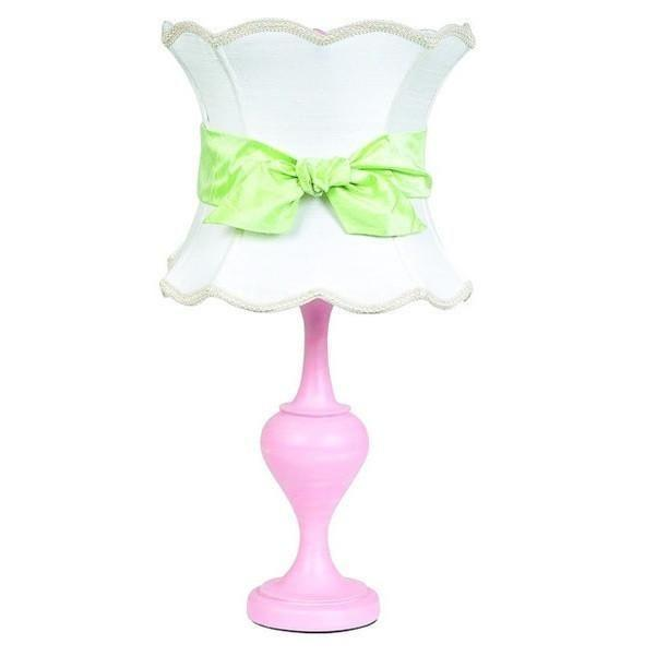 Shade - X-Large - Scallop Hourglass - White on Lamp Base - LG - Curvature - Pink-Table Lamp-Default-Jack and Jill Boutique