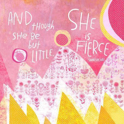She Is Fierce | Canvas Wall Art-Canvas Wall Art-Jack and Jill Boutique