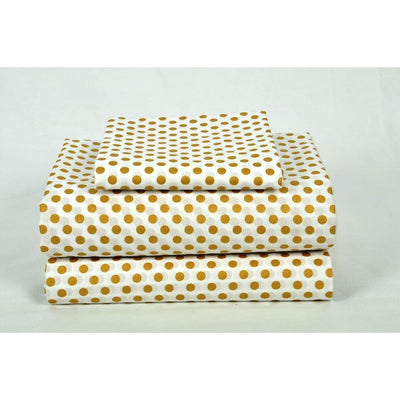 Sheet Set | Metallic Gold Dots-Sheet Set-Jack and Jill Boutique