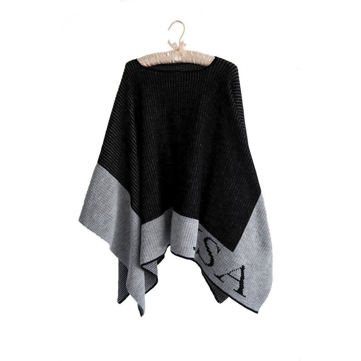 Single Border Personalized Blanket Poncho-Poncho-Default-Jack and Jill Boutique