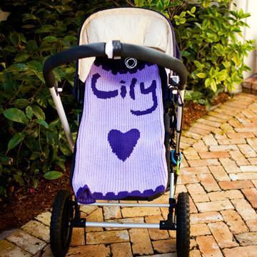Single Heart and Scalloped Edge Personalized Stroller Blanket or Baby Blanket-Baby Blanket-Jack and Jill Boutique