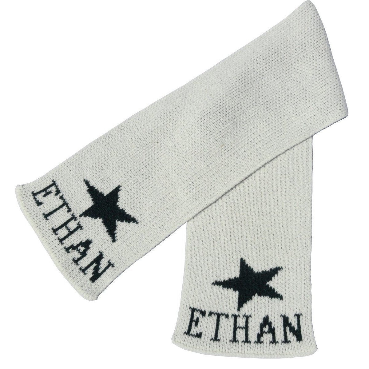 Single Star Personalized Knit Scarf-Scarves-Default-Jack and Jill Boutique