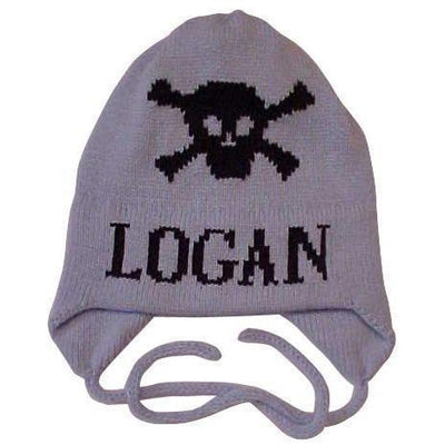 Skull Crossbones Personalized Knit Hat-Hats-Jack and Jill Boutique
