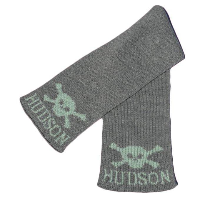 Skull & Crossbones Personalized Knit Scarf-Scarves-Default-Jack and Jill Boutique