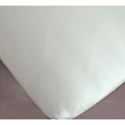 Solid Cotton Sateen Fitted Crib Sheet-Crib Sheets-Celery-Jack and Jill Boutique