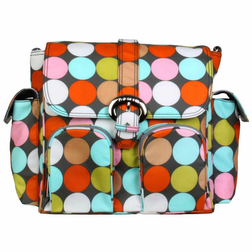 Spa Dots Matte Coated Double Duty Diaper Bag | Style 2991 - Kalencom-Diaper Bags-Jack and Jill Boutique