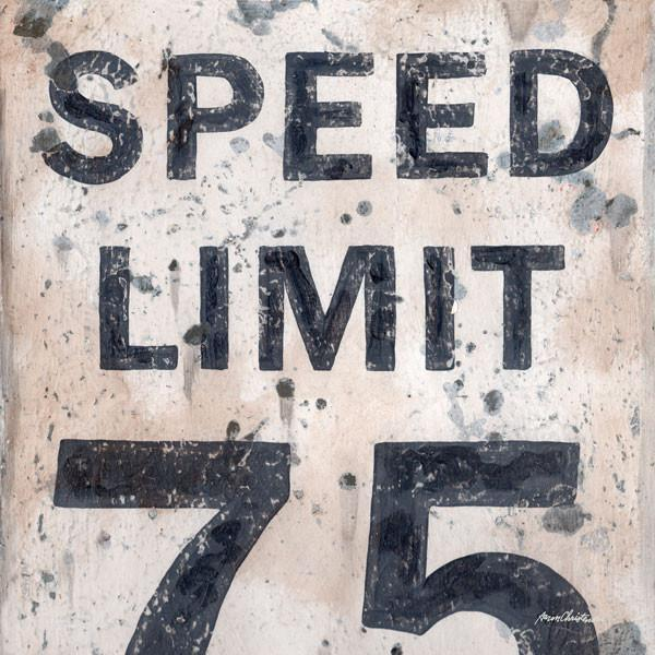 Speed Limit 75 Sign | Racing Art Collection | Canvas Art Prints-Canvas Wall Art-Jack and Jill Boutique