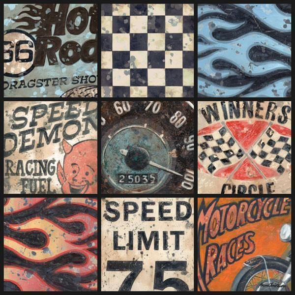Speedway Racing Collage | Racing Art Collection | Canvas Art Prints-Canvas Wall Art-Jack and Jill Boutique
