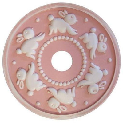 Spiraling Bunny Ceiling Medallion-Medallions-Jack and Jill Boutique