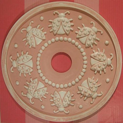 Spiraling Ladybugs Ceiling Medallions-Medallions-Jack and Jill Boutique