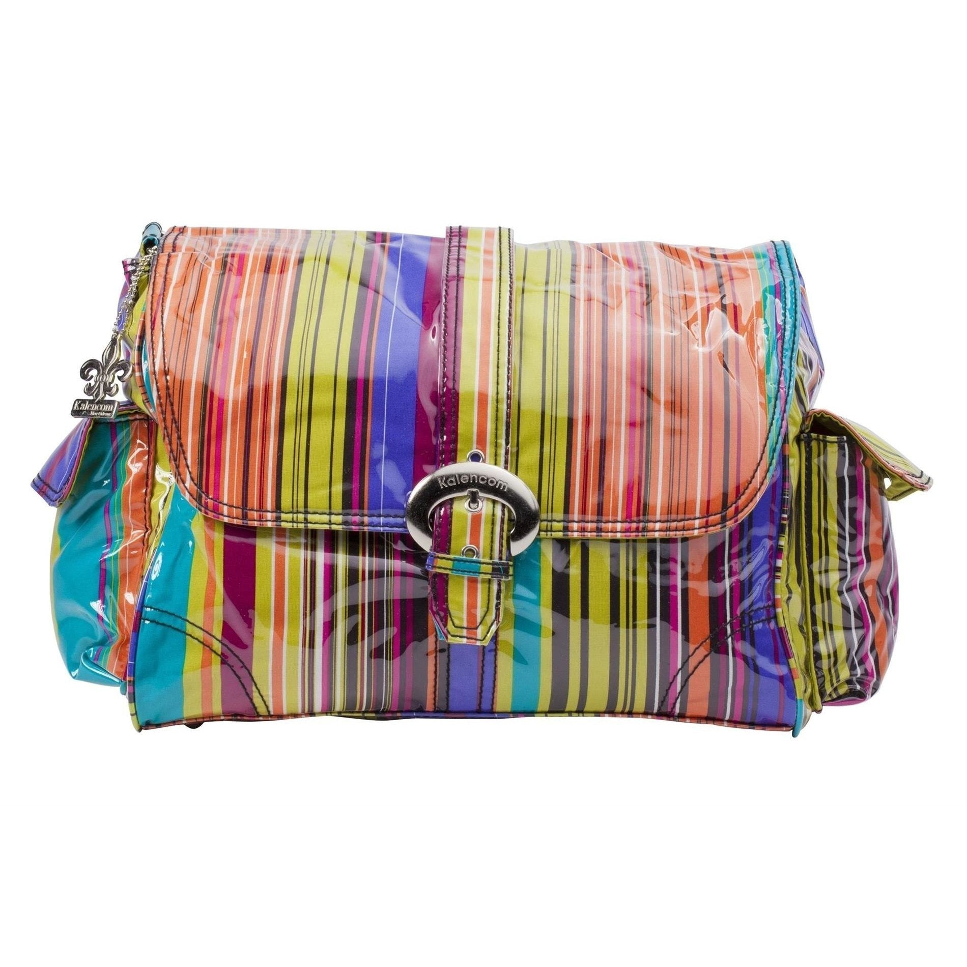 Spize Stripes Laminated Buckle Diaper Bag | Style 2960 - Kalencom-Diaper Bags-Default-Jack and Jill Boutique