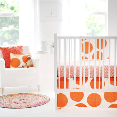 Spot On Tangerine Baby Bedding Set-Crib Bedding Set-Default-Jack and Jill Boutique