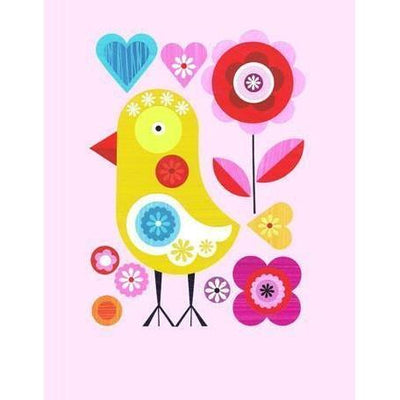 Spring Chicken on Pink | Canvas Wall Art-Canvas Wall Art-Jack and Jill Boutique